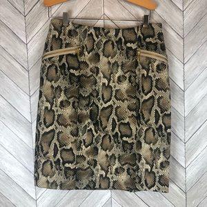 MICHAEL Michael Kors Faux Snakeskin Skirt 8p